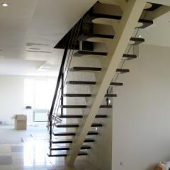Лестница на центральном металлическом косоуре