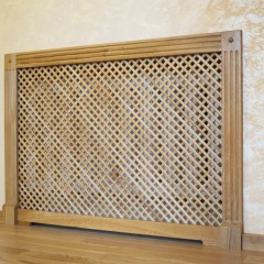 Декоративный экран радиатора из массива дуба
